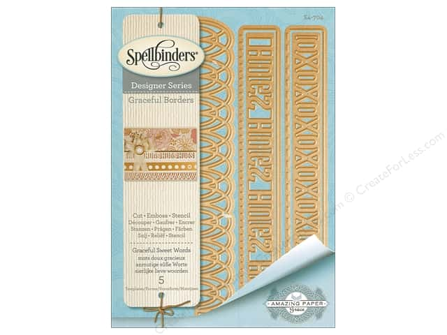 Spellbinders Die Card Creator Graceful Sweet Words