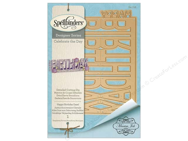 Spellbinders Die Shapeabilites Easel Happy Birthday