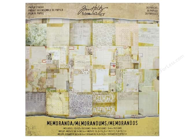 Tim Holtz Idea-ology Paper Stash 12 in. x 12 in. Memoranda