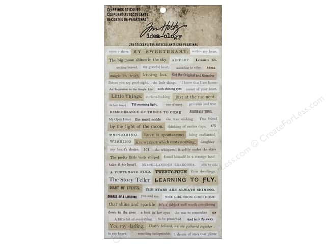 Tim Holtz Idea-ology Stickers Clippings