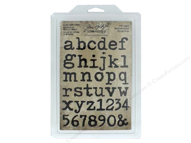 Tim Holtz Idea-ology Stamp Cling Foam Type Lower