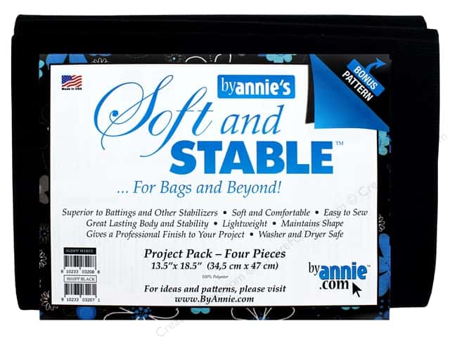 By Annie Soft And Stable Stabilizer 13 1/2 x 18 1/2 in. Black 4 pc.