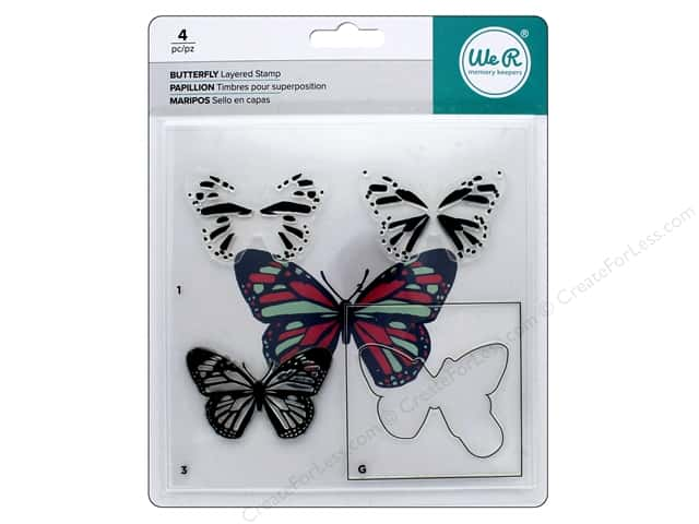 We R Memory Keepers Layered Stamp Butterfly