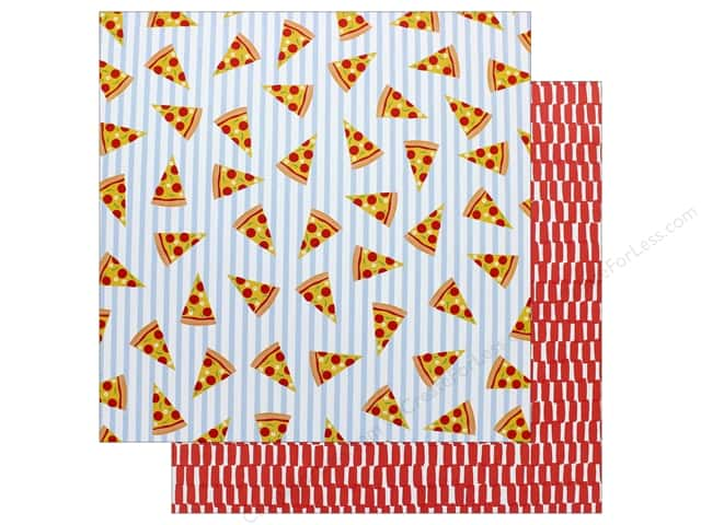 "AMC Collection On A Whim Amy Tangerine Paper 12""x 12"" Pizza Party (25 pieces)"