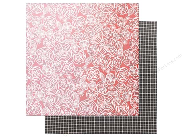 "AMC Collection On A Whim Amy Tangerine Paper 12""x 12"" Think Pink"