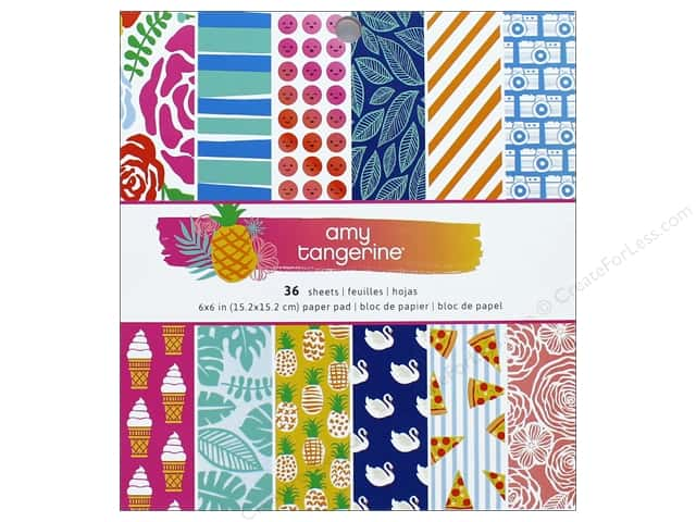 """AMC Collection On A Whim Amy Tangerine Paper Pad 6""""x 6"""""""