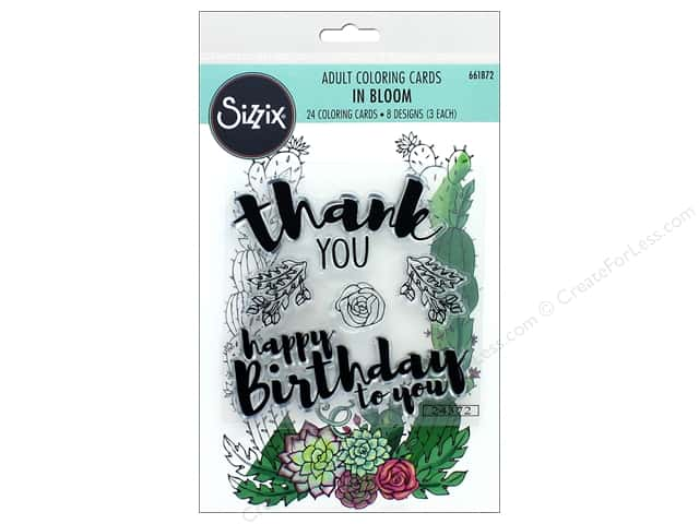 Sizzix Stamp Jen Long Coloring Card and Stamp In Bloom