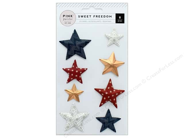 Pink Paislee Collection Sweet Freedom Sticker 3D Star Foil Copper