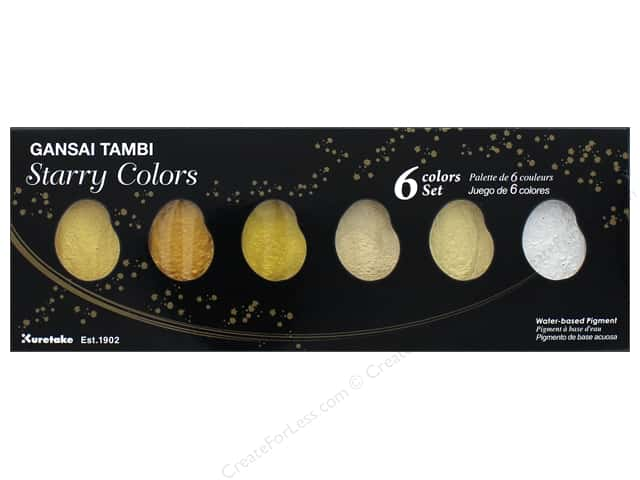 Kuretake Gansai Tambi Watercolors 6 Color Set Starry