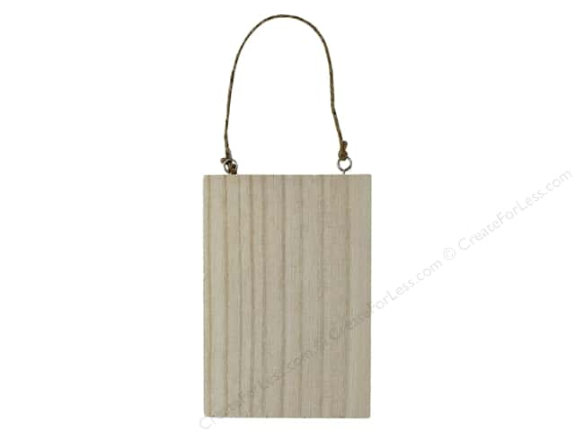 Sierra Pacific Crafts Wood Hanging Plaque With Jute Rope Whitewash