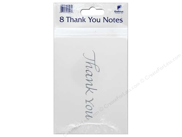 Gallant Greetings Thank You Card 8ct Silver Foil 1