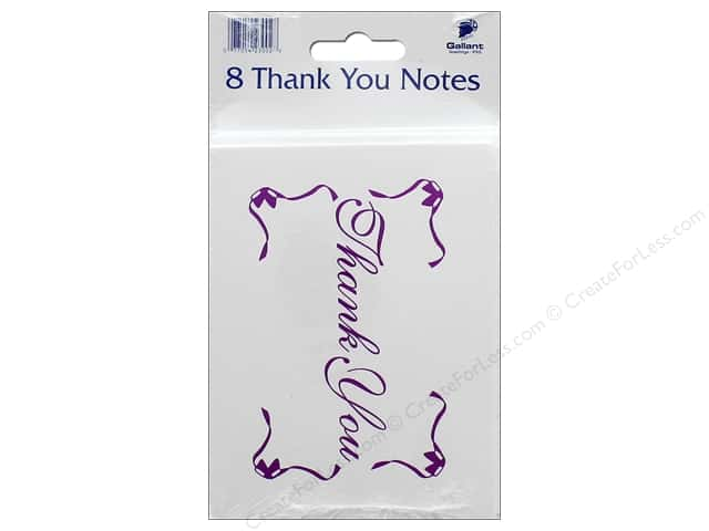 Gallant Greetings Thank You Card 8ct Magenta Foil 3