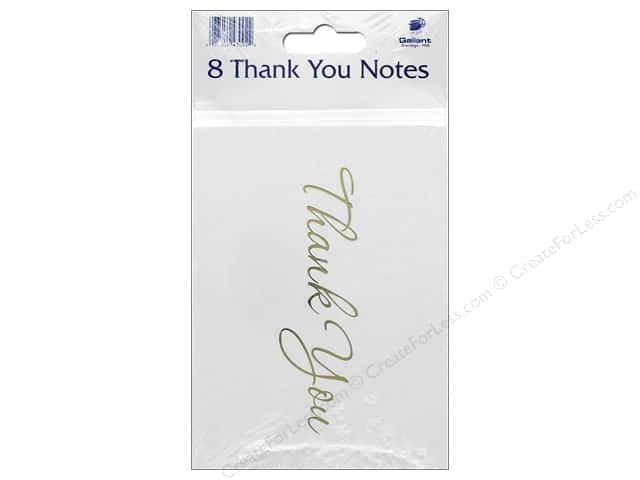 Gallant Greetings Thank You Card 8ct Gold Foil 2