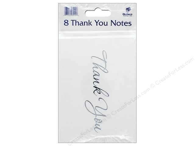 Gallant Greetings Thank You Card 8ct Silver Foil 2