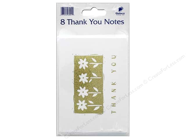 Gallant Greetings Thank You Card 8ct Gold Foil 1