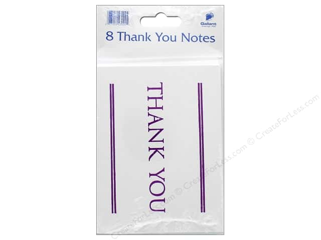 Gallant Greetings Thank You Card 8ct Magenta Foil 1
