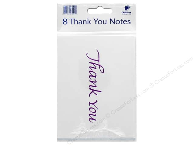Gallant Greetings Thank You Card 8ct Magenta Foil 2