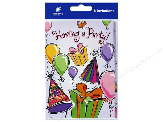 Gallant Greetings General Party Invitation 8ct 4