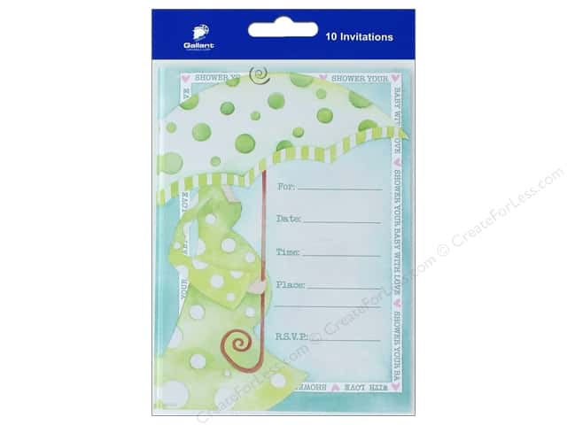 Gallant Greetings Baby Shower Invitation 10ct 3