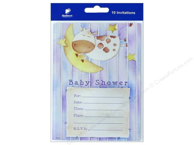 Gallant Greetings Baby Shower Invitation 10ct 2
