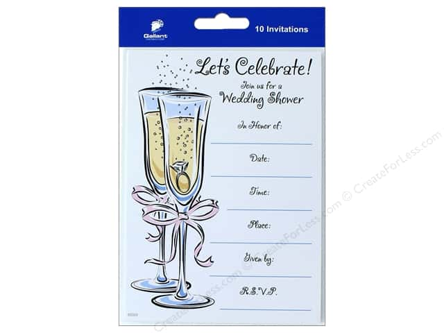 Gallant Greetings Wedding Shower Invitation 10ct 2