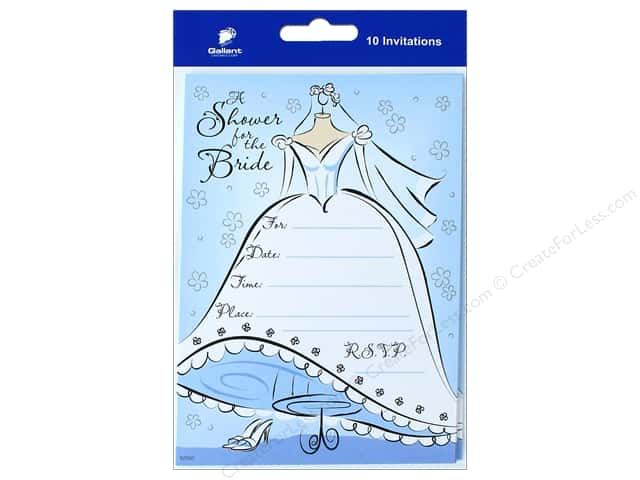 Gallant Greetings Wedding Shower Invitation 10ct 3