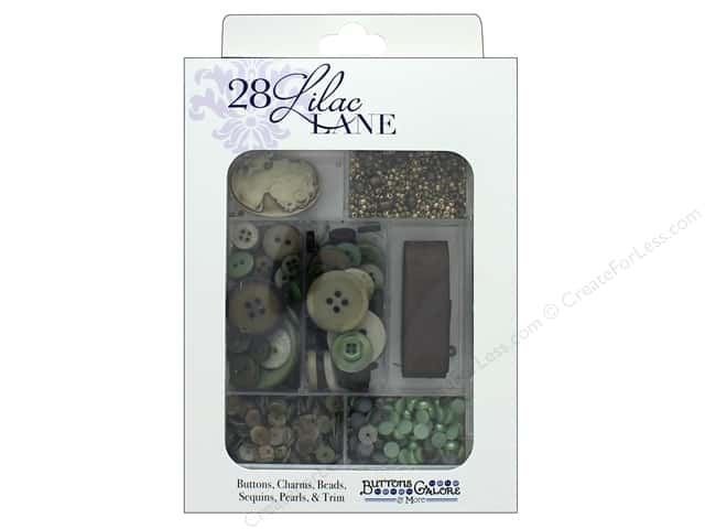 Buttons Galore 28 Lilac Lane Embellishment Kit Victoria