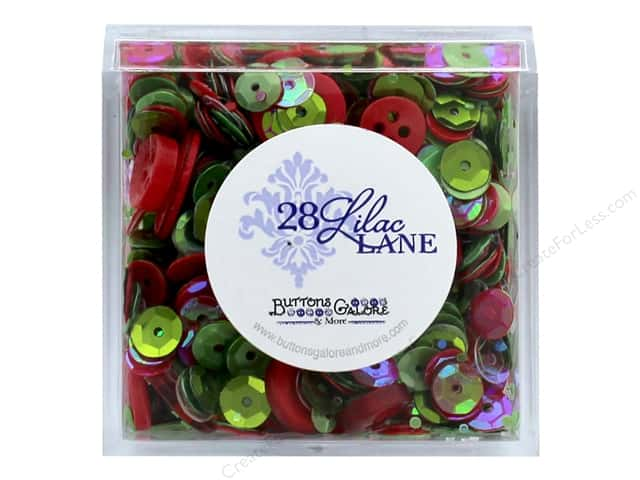 Buttons Galore 28 Lilac Lane Shaker Mix Deck The Halls