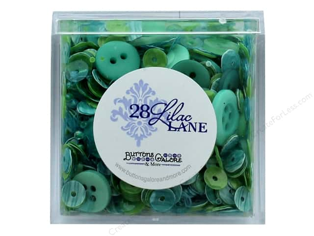 Buttons Galore 28 Lilac Lane Shaker Mix Sea Glass