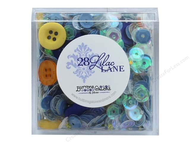 Buttons Galore 28 Lilac Lane Shaker Mix Sunflower Sky