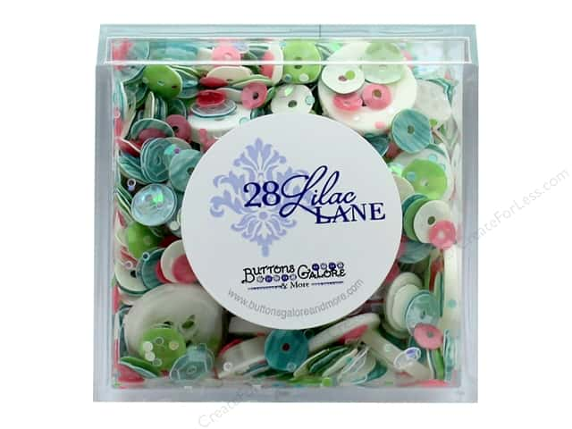 Buttons Galore 28 Lilac Lane Shaker Mix Rainbow Unicorn