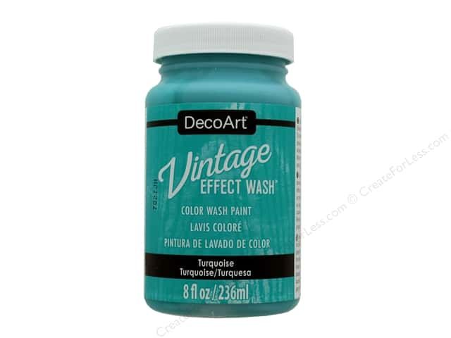 Decoart Vintage Effect Wash - Turquoise 8 oz.