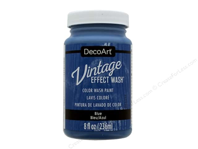 Decoart Vintage Effect Wash 8 oz. Blue