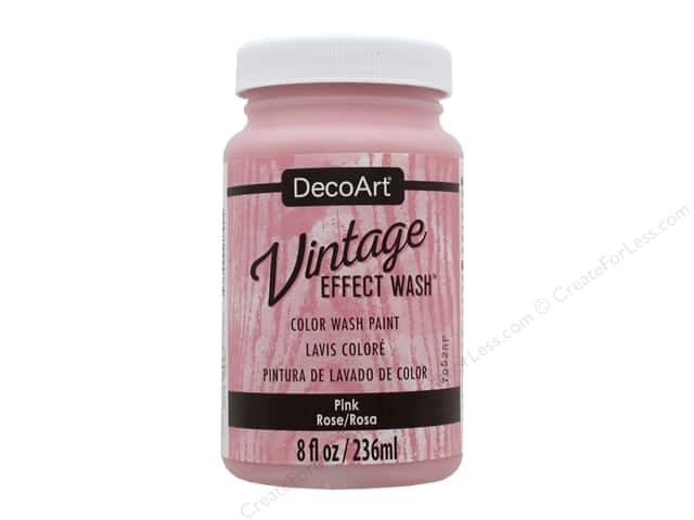 Decoart Vintage Effect Wash 8 oz. Pink