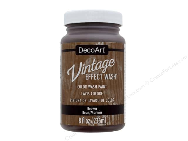 Decoart Vintage Effect Wash - Brown 8 oz.