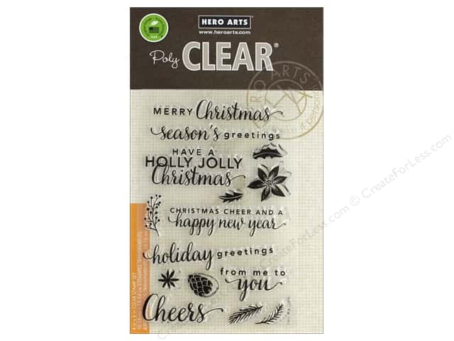 Hero Arts Poly Clear Stamp Christmas Holiday Greeting