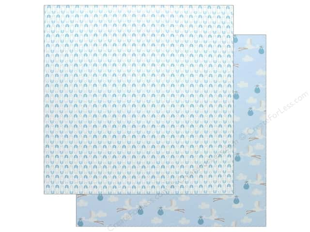 "Pebbles Collection Lullaby Paper 12""x 12"" Baby Boy Delivering (25 pieces)"