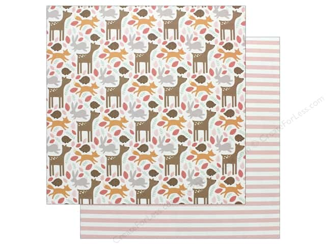 "Pebbles Collection Lullaby Paper 12""x 12"" Baby Girl Woodland (25 pieces)"