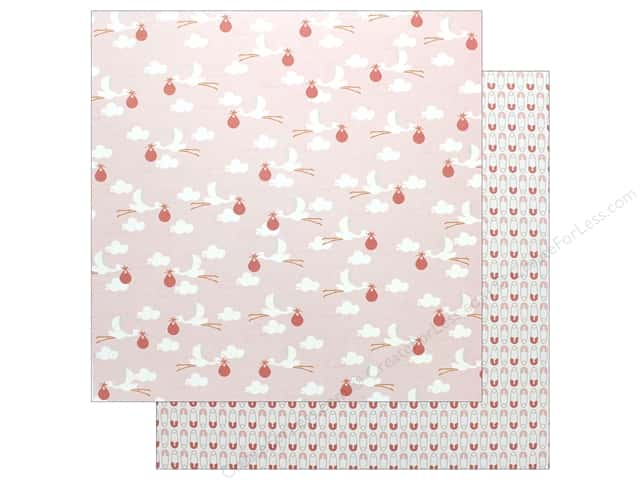 "Pebbles Collection Lullaby Paper 12""x 12"" Baby Girl Delivering (25 pieces)"