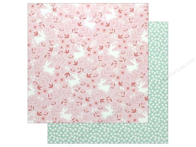 "Pebbles Collection Lullaby Paper 12""x 12"" Baby Girl Posies (25 pieces)"