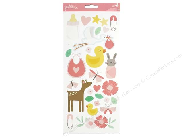 Pebbles Collection Lullaby Sticker Girl