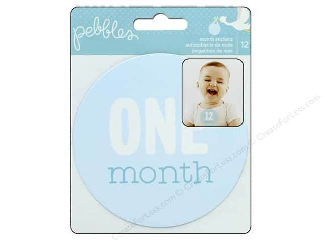 Pebbles Collection Lullaby Sticker Monthly Boy