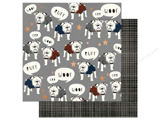 """My Mind's Eye Collection Hey Mister Paper 12""""x 12"""" Copper Foil Sharp Dressed"""