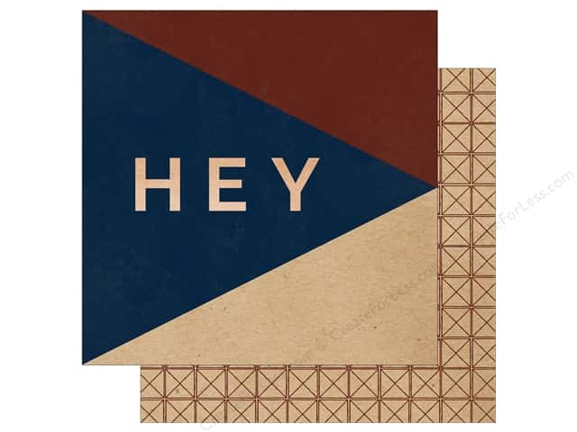 "My Mind's Eye Collection Hey Mister Paper 12""x 12"" Copper Foil Hey There (25 pieces)"