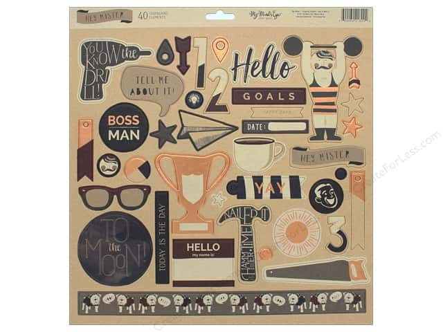 My Mind's Eye Collection Hey Mister Chipboard Elements