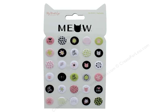 My Mind's Eye Collection Meow Stickers Puffy