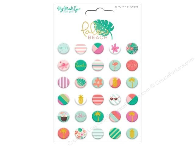 My Mind's Eye Collection Palm Beach Stickers Puffy