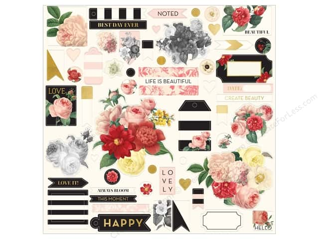 My Mind's Eye Collection In Bloom Chipboard Elements