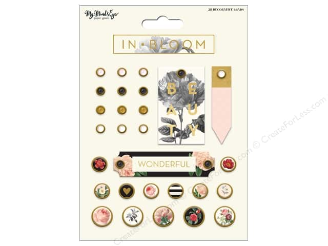 My Mind's Eye Collection In Bloom Decorative Brads