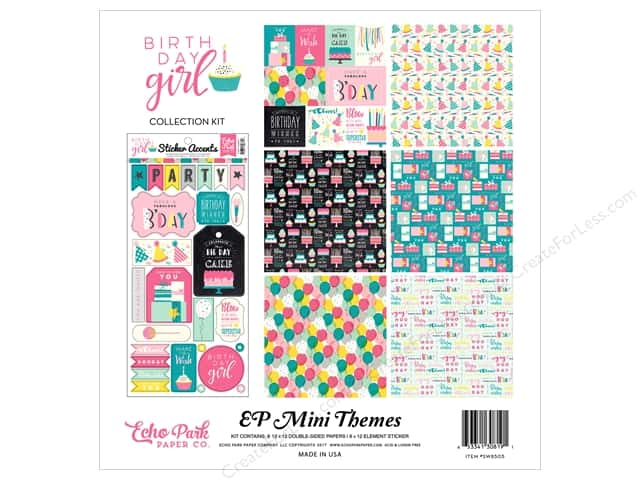 "Echo Park Collection Birthday Girl Collection Kit 12""x 12"""
